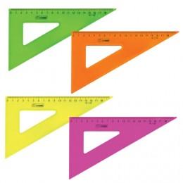 Треугольник пластиковый 30х18 см, СТАММ Neon Crystal, тонированный, прозрачный, неоновый, ассорти, ТК47