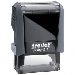 Оснастка для штампа, размер оттиска 26х9 мм, синий, TRODAT 4910 P4, подушка в комплекте, 56876