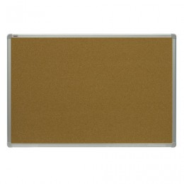 Доска пробковая 90x120 см, алюминиевая рамка, OFFICE,