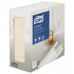 Конверты бумажные нетканые для столовых приборов TORK LinStyle Premium, 39х39, 60шт, кремовые,477228