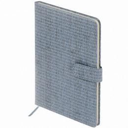 Еженедельник датированный 2022 А5 (145х215мм) BRAUBERG Instinct, кожзам, светло-серый, 112866