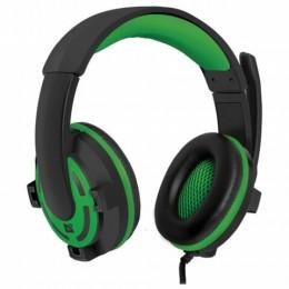 Наушники с микрофоном (гарнитура) DEFENDER Warhead G-300,проводные,2,5м,с оголовьем,черные с зеленым, 64128