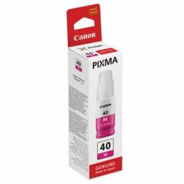 Чернила CANON (GI-40M) для СНПЧ Pixma G5040/G6040, пурпурные, ресурс 7700 стр, оригинальные, 3401C001