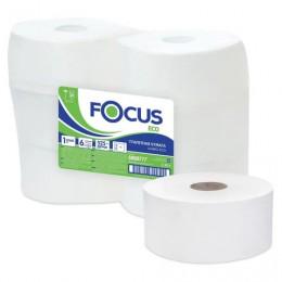 Бумага туалетная БОЛЬШОЙ РУЛОН 525м, FOCUS (Система Т1) 1-сл, цвет белый, КОМПЛЕКТ 6рул, 5050777