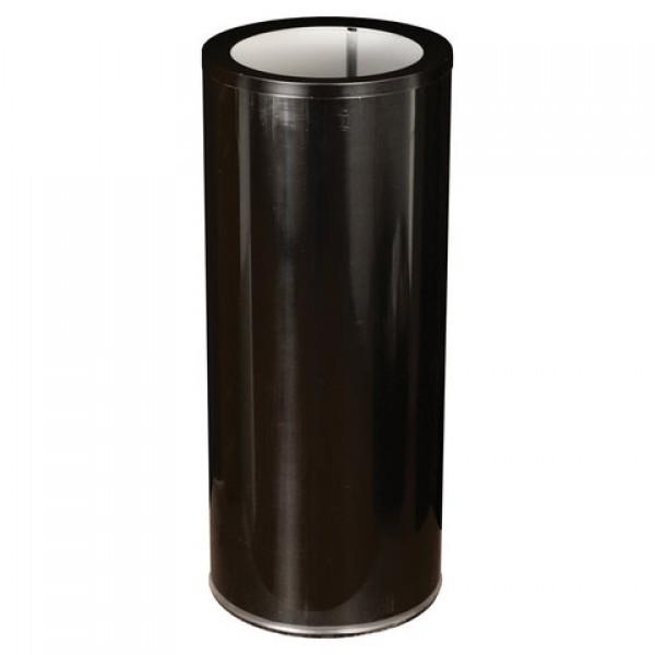 Урна металлическая, 600х250х250 мм, 30 литров, оцинкованная сталь, черная, кольцо под мешок, У250