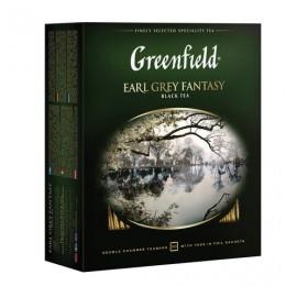 Чай GREENFIELD (Гринфилд) Earl Grey Fantasy, черный с бергамотом, 100 пакетиков в конвертах по 2 г, 0584-09