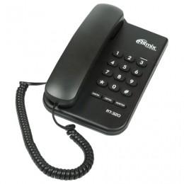 Телефон RITMIX RT-320 black, световая индикация звонка, блокировка набора ключом, черный, 15118347