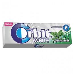 Жевательная резинка ORBIT (Орбит) Белоснежный, нежная мята, 10 подушечек, 13,6 г, 42113164
