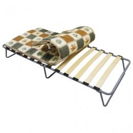 Кровать раскладная (раскладушка), 1900х800х350 мм, на ламелях, с матрацем 50 мм,