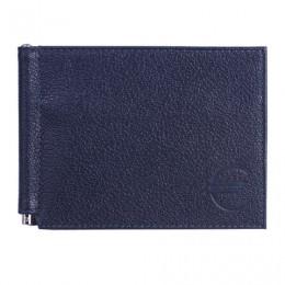 Зажим для купюр BEFLER Грейд, натуральная кожа, тиснение, 120х86 мм, синий, Z.9.-9