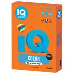 Бумага IQ color БОЛЬШОЙ ФОРМАТ (297х420 мм), А3, 80 г/м2, 500 л., интенсив, оранжевая, OR43