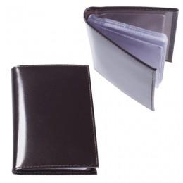 Визитница карманная BEFLER Classic на 40 визитных карт, натуральная кожа, коричневая, V.32.-1