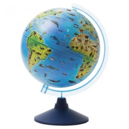 Глобус зоогеографический GLOBEN Классик Евро, диаметр 250 мм, детский, Ке012500269