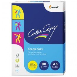 Бумага COLOR COPY, БОЛЬШОЙ ФОРМАТ (297х420 мм), А3, 90 г/м2, 500 л., для полноцветной лазерной печати, А++, Австрия, 161% (CIE)