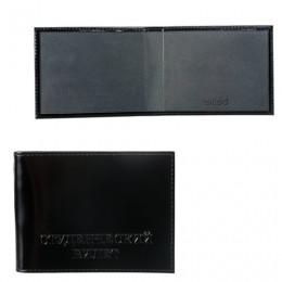 Обложка для удостоверения BEFLER Classic, натуральная кожа, тиснение Студенческий билет, черная, F.12.-1