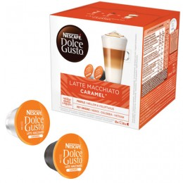 Капсулы для кофемашин NESCAFE Dolce Gusto Латте Макиато Карамель, кофе 8 шт. х 6 г, молочные капсулы 8 шт. х 15 г, 12136960