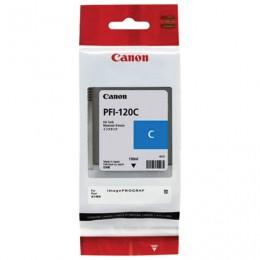 Картридж струйный CANON (PFI-120C) для imagePROGRAF TM-200/205/300/305, голубой 130мл, ориг, 2886C001