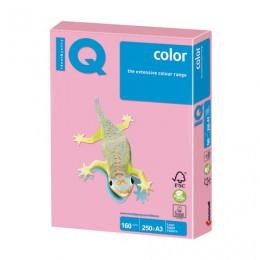 Бумага IQ color БОЛЬШОЙ ФОРМАТ (297х420 мм), А3, 160 г/м2, 250 л., пастель, розовая, PI25