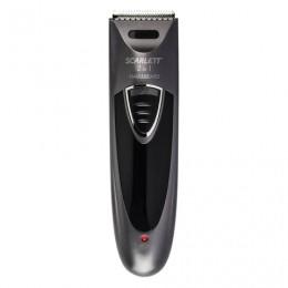 Машинка для стрижки волос SCARLETT SC-HC63C58, мощность 6 Вт, 2 насадки, аккумулятор, пластик, черная