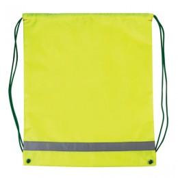 Сумка для обуви светоотражающая для начальной школы, 33х42 см, ярко-зеленая (лимонная)