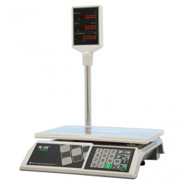 Весы торговые MERCURY M-ER 326ACP-32.5 LED (0,1-32 кг), дискретность 10 г, платформа 325x230 мм, со стойкой