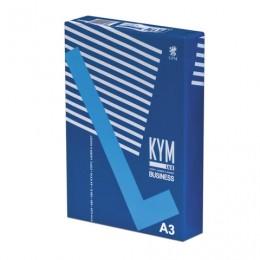 Бумага офисная БОЛЬШОГО ФОРМАТА (297х420 мм), А3, класс B, KYM LUX BUSINESS, 80 г/м2, 500 л., белизна 164% (CIE)