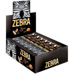 Батончик вафельный глазированный ZEBRA с изюмом и арахисом в мягкой карамели, 40 г, пакет, ЯВ252