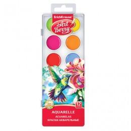 Краски акварельные ERICH KRAUSE Artberry, 12 цветов, медовые, без кисти, пластиковая коробка, 41724