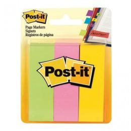 Закладки клейкие POST-IT Professional, бумажные, 22,2 мм, 3 цвета х 100 шт., 671-3
