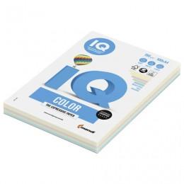 Бумага IQ color, А4, 160 г/м2, 100 л. (5 цв. x 20 л.), цветная пастель, RB01