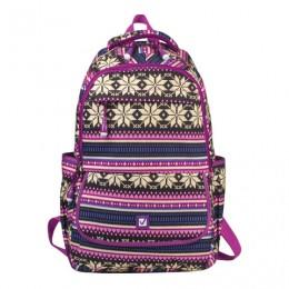 Рюкзак BRAUBERG молодежный, Фиолетовые узоры, канвас, 47х32х14 см, 227069