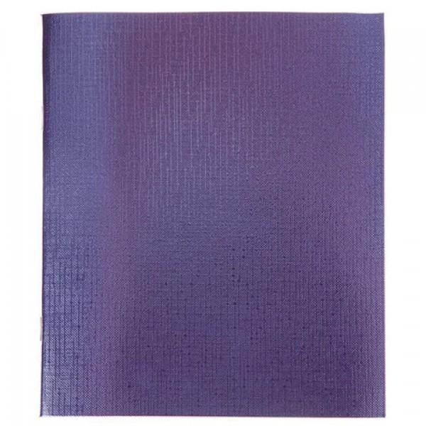 Тетрадь бумвинил, А5, 96 л., скоба, офсет №1, клетка, Фиолетовая Metallic, HATBER, 96Т5бв, 96Т5бвВ1