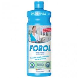 Чистящее средство 1 л, DR.SCHNELL FOROL, универсальное для водостойких поверхностей, щелочное, 143389