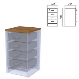 Крышка для тумбы приставной (АТ-05) Арго, 440х450х22 мм, орех
