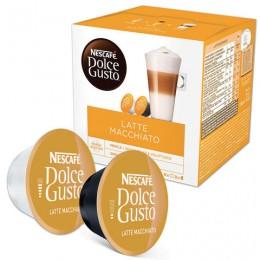 Капсулы для кофемашин NESCAFE Dolce Gusto Latte Macchiato, натуральный кофе 8 шт. х 6,5 г, молочная капсула 8 шт. х 17,8 г, 5219838