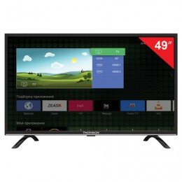 Телевизор THOMSON T49FSL5130, 49 (124 см), 1920х1080, Full HD, 16:9, Smart TV, Android, Wi-Fi, черный