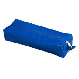 Пенал-косметичка BRAUBERG под искусственную кожу, Блеск, синий, 20х6х4 см, 226720