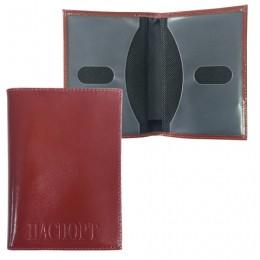 Обложка для паспорта BEFLER Classic, натуральная кожа, тиснение Passport, коньяк, O.24.-1
