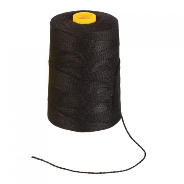 Нить лавсановая для прошивки документов, ЧЕРНАЯ, диаметр 1,5 мм, длина 500 м, ЛШ 460ч, BRAUBERG, 603772