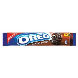 Печенье OREO (Орео) шоколадное, начинка со вкусом шоколада, 95 г, 67652