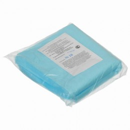 Салфетки одноразовые ГЕКСА нестерильные, комплект 50 шт., 40х40 см спанбонд ламинированный 40 г/м2, голубые