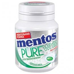 Жевательная резинка MENTOS Pure White (Ментос) Нежная мята, 54 г, банка, 67843
