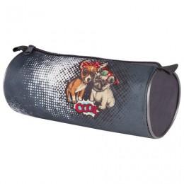 Пенал-тубус, печать на ткани, Cool Dog, 20х9 см, ПТ-02