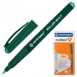 Ручка-роллер CENTROPEN, трехгранная, корпус зеленый, узел 0,5 мм, линия 0,3 мм, зеленая, 4615/1З