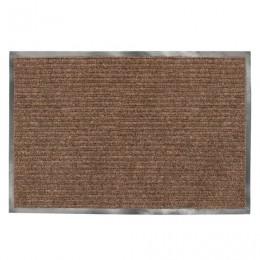 Коврик входной ворсовый влаго-грязезащитный ЛАЙМА/ЛЮБАША, 90х120 см, ребристый, толщина 7 мм, коричневый, 602873