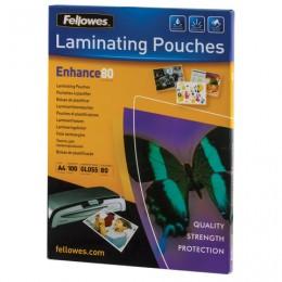 Пленки-заготовки для ламинирования А4, КОМПЛЕКТ 100 шт., 80 мкм, FELLOWES, FS-53061