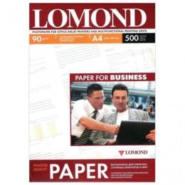 Фотобумага для струйной печати, A4, 90 г/м2, 500 листов, односторонняя матовая, LOMOND, 0102131