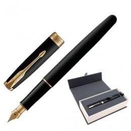 Ручка перьевая PARKER Sonnet Core Matt Black GT, корпус черный матовый лак, позолоченные детали, черная, 1931516