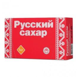Сахар-рафинад Русский, 1 кг (196 кусочков, размер 15х16х21 мм), картонная упаковка