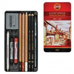 Набор художественный KOH-I-NOOR Gioconda, 10 предметов, металлическая коробка, 8890000001PL